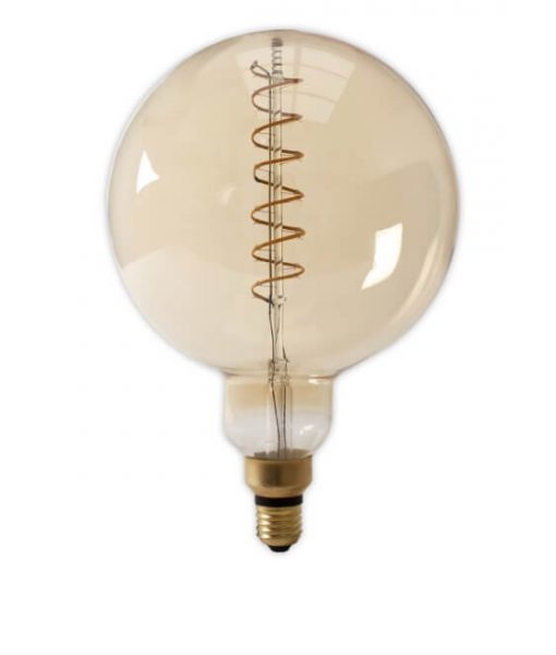 LED XXL Megaglobe spiraal E27 goud dimbaar