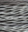 strijkijzersnoer zilver gedraaid