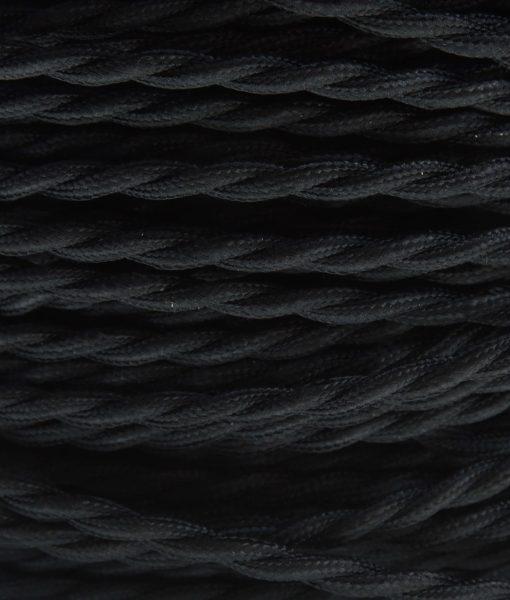 Strijkijzersnoer zwart gedraaid