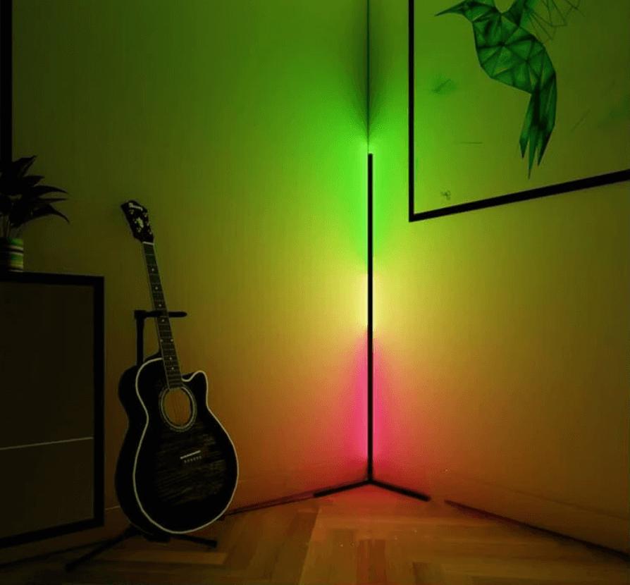 Bizz Light Led Vloerlamp Moderne Staande Lamp Sfeerlicht Dimbaar Met Afstandsbediening Woonkamer Slaapkamer Rgb A Zwart Bizz Lightstore