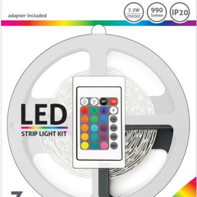 AVIDE-LEDSTRIP-7.2W-990LM-3METER-RGB-IP20
